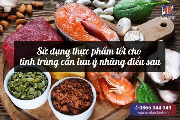 Lưu ý khi sử dụng thực phẩm bổ tinh trùng